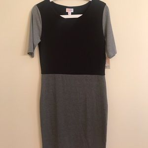 Lularoe Julia Gray/Black Dress